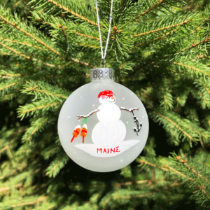 Maine Snowman Ornament