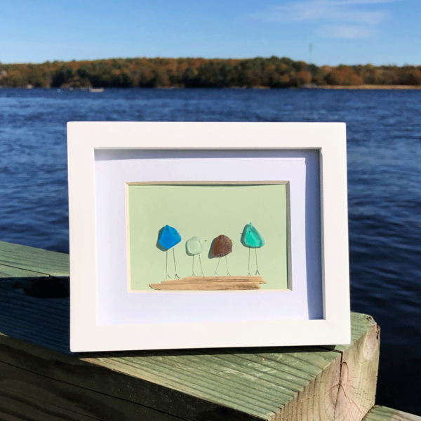 Sea Glass Frame - Family of 4