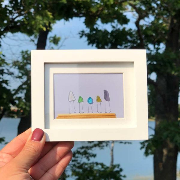 Sea Glass Frames - 5 people