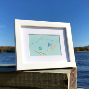Sea Glass Frame -Skiers
