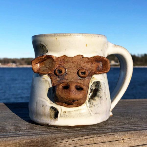 Cow Mug 2 by Westport Island Pottery