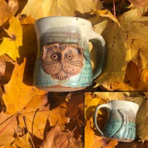 Cat Mug 4 by Westport Island Pottery