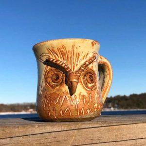 Owl Mug 2 by Westport Island Pottery