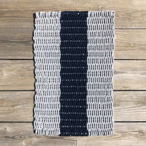 Grey & Navy Lobster Rope Doormat