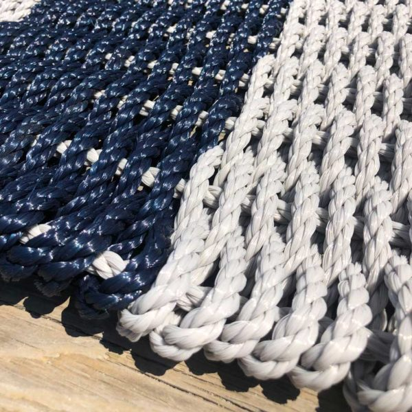 Grey & Navy, Lobster Rope Doormat.