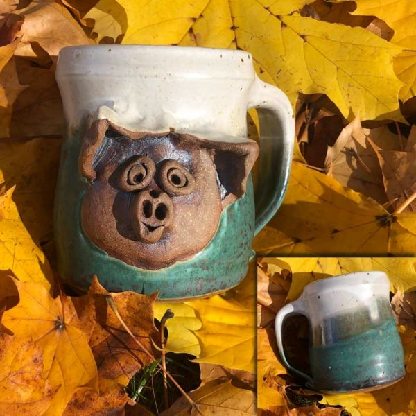 Pig Mug 3 by Westport Island Pottery