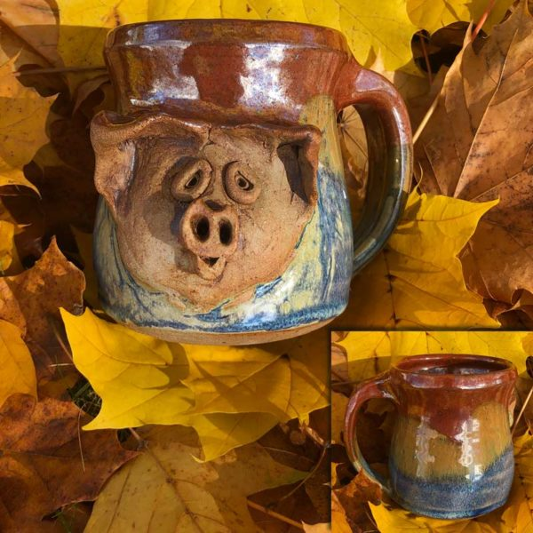 Pig Mug 4 by Westport Island Pottery