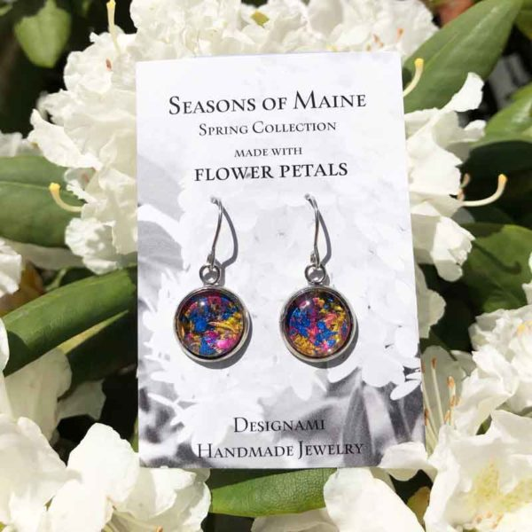Maine Flower Petal Mix Earrings