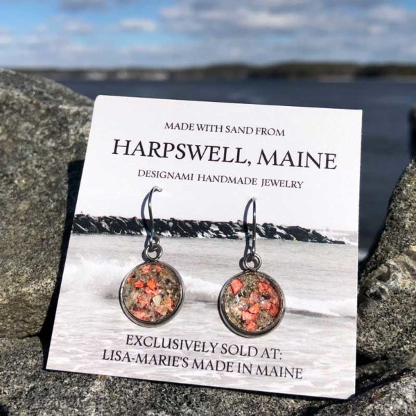 Harpswell Sand Earrings with Crushed Lobster Shell