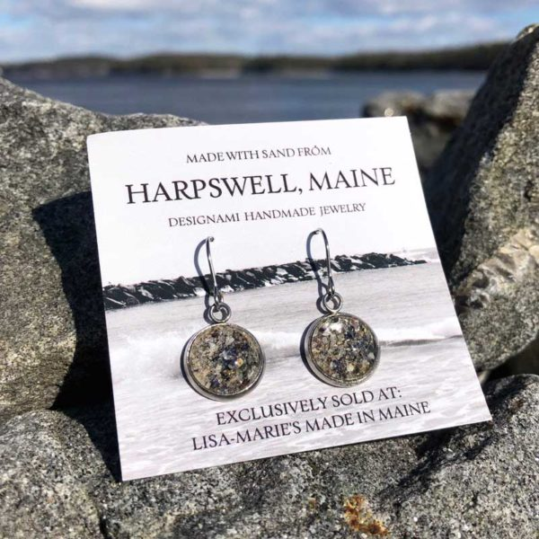 Harpswell Sand Earrings with Crushed Mussel Shell