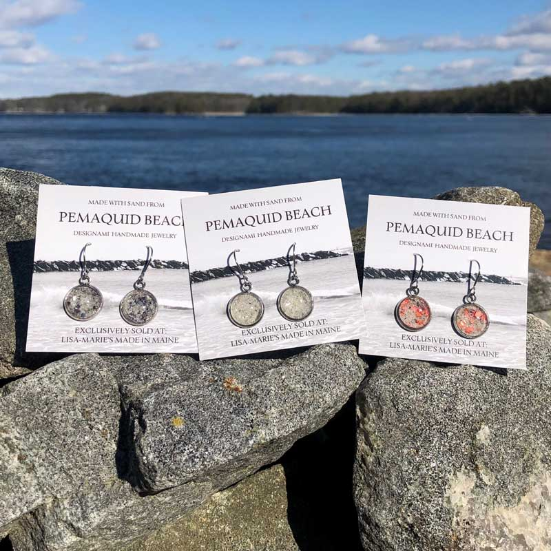 Pemaquid Beach Sand Earrings