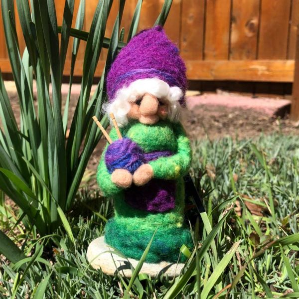 Kelly Green & Purple Miss Home Gnome