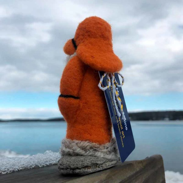 Orange Felted Fisherman