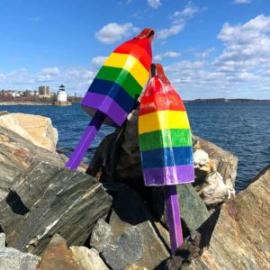Rainbow Lobster Buoy