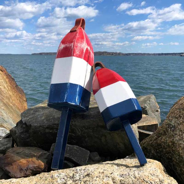 Red, White & Blue Lobster Buoy
