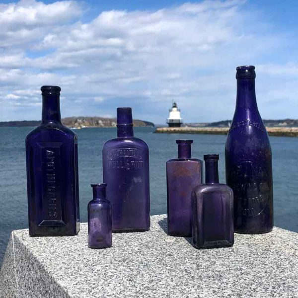 Vintage Purple Bottles