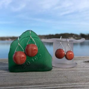 Auburn Glass Earrings