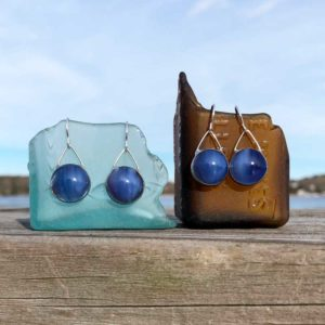 Periwinkle Glass Earrings