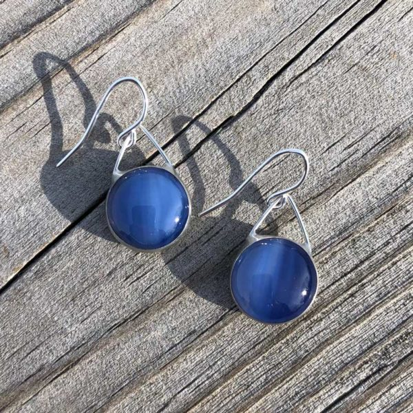 Periwinkle, Glass Earrings.