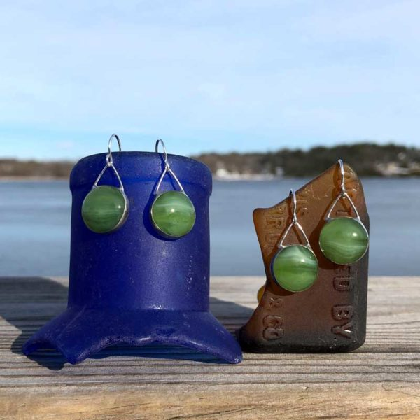 Fern Glass Earrings