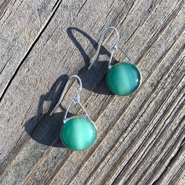 Jade Glass Earrings