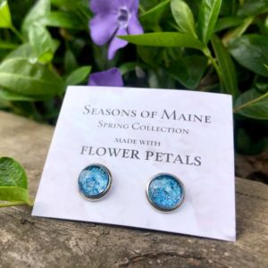 Pansy Petal Stud Earrings