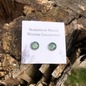 Pine Needle, Stud Earrings.