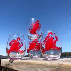 Lobster Stemless Wine Glass
