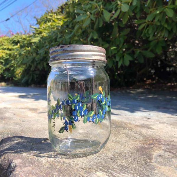 Blueberry Tea Light Mason Jar