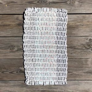 White, Lobster Rope Doormat, made from re-claimed lobster rope.