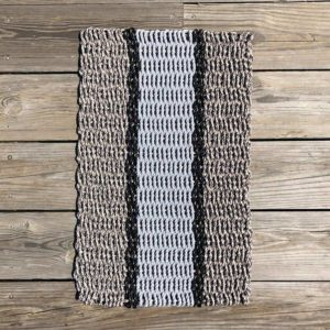 Taupe, Black & Grey Lobster Rope Doormat