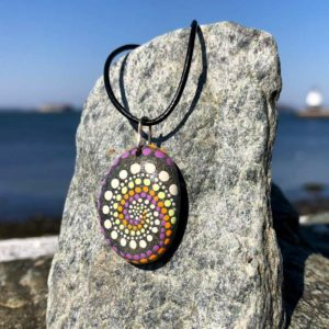 Wave Dot Beach Stone Necklace