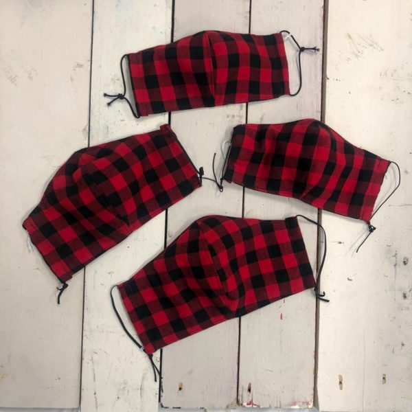 Maine Made Mask in Buffalo Plaid for the whole family.