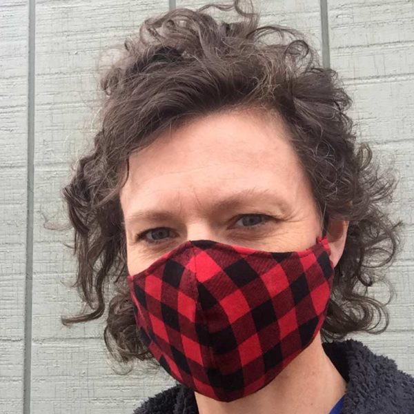 Maine Made Mask in Buffalo Plaid, Women's.