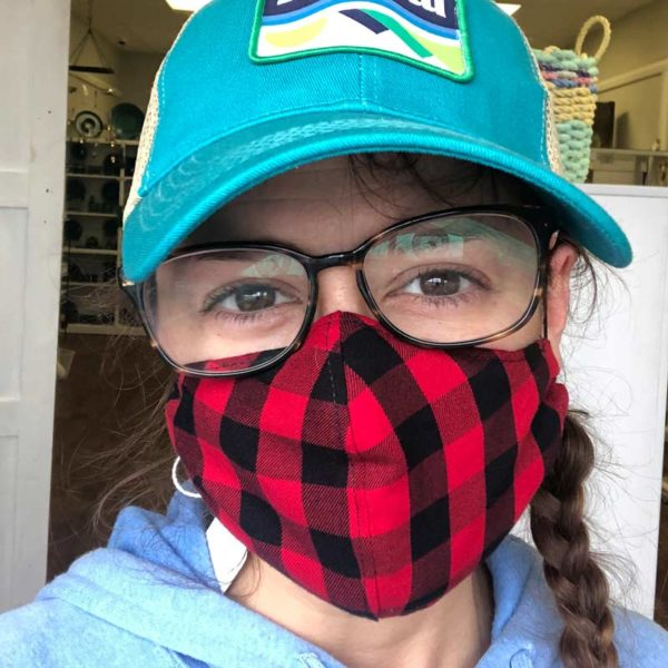 Maine Made Mask in Buffalo Plaid Youth Size.