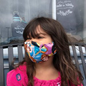 Maine Made Mask in Child size, 3-6 years old.