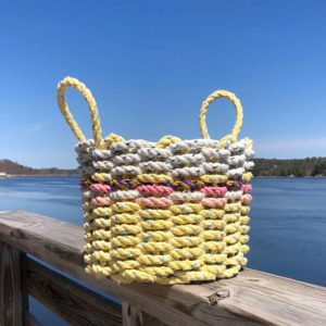 Yellow Dahlia Lobster Rope Basket