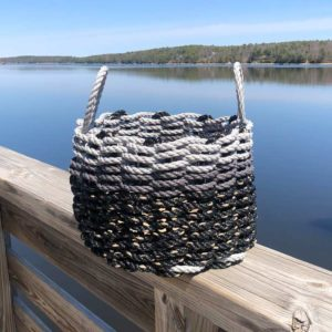 Black & Grey Lobster Rope Basket