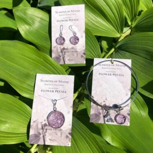 Maine Lilac Flower Petal Jewelry