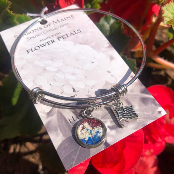 Patriot Flower Petal Bracelet