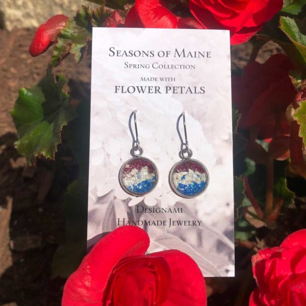 Patriot Flower Petal Earrings