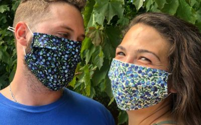 Maine, Blueberry Masks.