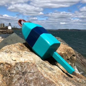 Teal & Navy Blue Lobster Buoy
