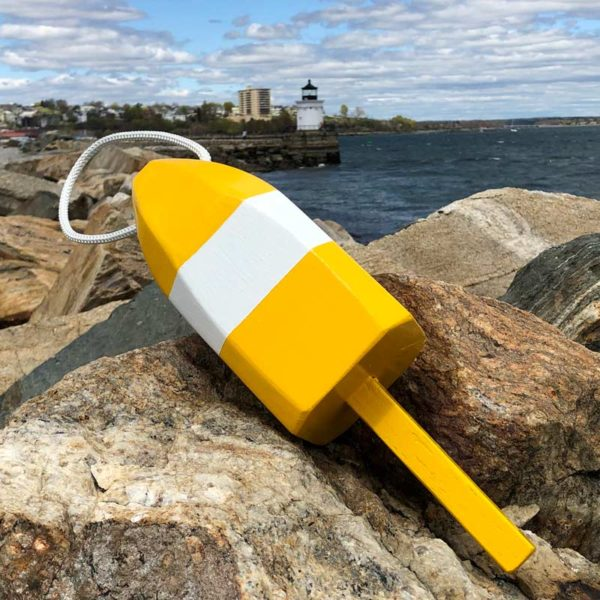 Yellow & White Lobster Buoy