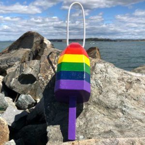 Small Glossy Rainbow Lobster Buoy