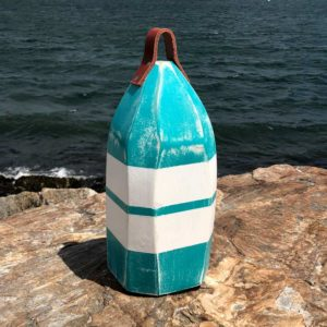 Teal & White Lobster Buoy Centerpiece