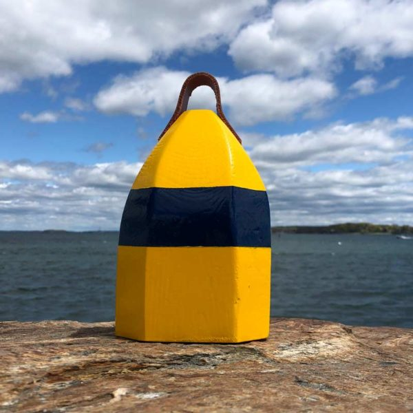 Yellow & Navy Blue Lobster Buoy Centerpiece