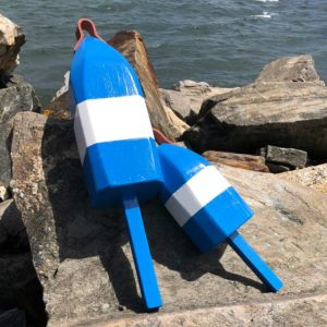 Blue & White Buoys.