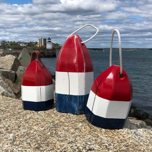 Red, White & Blue Lobster Buoy, Centerpiece.