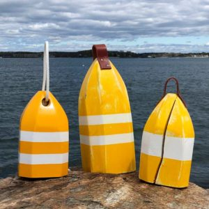 Yellow & White Lobster Buoy Centerpiece
